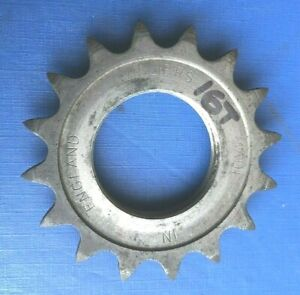 """NEW OLD STOCK VINTAGE VILLIERS FIXED COG 16T 1/8"""" ENGLISH THREAD,TOP QUALITY"""