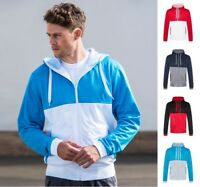 AWDis Men's Cool Retro Track Zoodie Full Zip HOODIE Jacket Many Contrast Colours