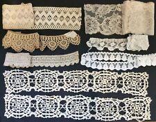 Antique/Vintage Lot of 9 1/2 + Yards of Laces & Trims