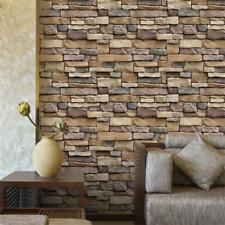 3D Stone Brick Self Adhesive Wall Sticker Soft Decal DIY Art Home Décor