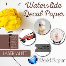 5 Sheets Premium White Laser Waterslide Decal Transfer Paper 85 X 11 Standard