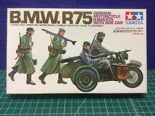 Tamiya 1/35 German BMW R75 Model Kit MM116 (Sealed Inside)