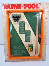 VINTAGE 1970 MINI POOL GAME WITH CUE STICKS AND BALLS UNOPENED PACKAGE TOY
