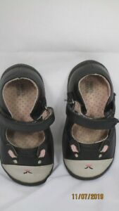 Harper Canyon Black Kitty Cat Design Mary Jane Shoes 6M Toddler  Baby
