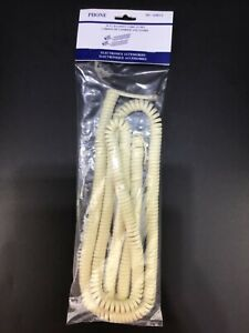 50 FT Telephone Handset Cord Phone Curly Coil Cable Ivory DD-650IVY NEW & Sealed