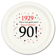 Happy 90th Birthday Age 90 1929 Party Supplies DESSERT CAKE PLATES