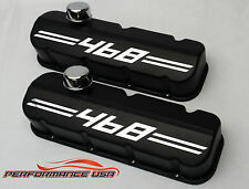 Big Block Chevy 468 Die Cast Aluminum Black Powder Coat Valve Covers