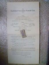 SUNDERLAND FC Ltd Annual Accounts & Directors Reports Y/E 1928, 5th May- RARE***