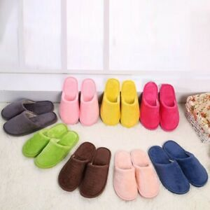 1 Pair Of Autumn & Winter Couple's Plush Slippers Thick-soled Non-slip Home Warm