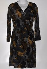 UK Style By French Connection Ladies Wrap Dress Blue Combo Medium (M) NWT