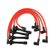 8mm Spiral Core Spark Plug Ignition Wire Fit For 92-02 Honda Accord Civic