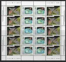 CANADA - #1441-#1442, #1442v - 42c CANADA IN SPACE SHEET BLACK HOLE VARIETY #3