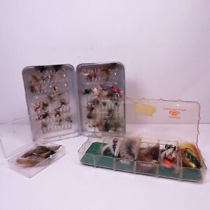 Large Assortment of Fly Fishing Flies in Fly Box