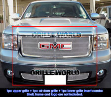 SS 1.8mm Mesh Grille Combo 07-12 2011 2012 GMC Sierra 1500 New Body Style