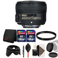 Nikon 50mm f/1.8G Lens with Ultimate Accessory Kit For Nikon D5200 and D5300