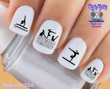 Nail Decals #3081 SPORTS Gymnastic 1 Gymnast Silhouette WaterSlide Nail Transfr