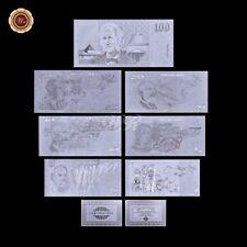 WR 1980s Australia $1 2 5 - 100 Dollar Polymer Note 999 Silver Banknote Set +COA
