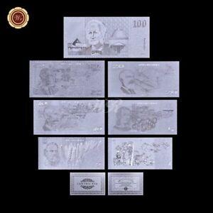 WR 1980s Australia $1 2 5 - 100 Dollar Polymer Note  Silver Banknote Set +COA