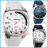 Schicke analoge unisex XONIX Armbanduhr mit großem Ziffernblatt WR100m nickel...