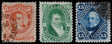 Argentina Scott 18, 18A, 21 (1867-68) Used H F-Vf, Cv $40.00