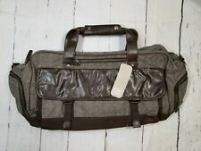 Men's Cutter & Buck Canvas & Leather Weekend/Duffle/Tote/Gym Bag w/Shoulder Strp