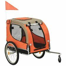 vidaXL Remorque de Vélo pour Chiens - Orange/ Marron (91767)
