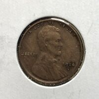 1914-S 1c LINCOLN WHEAT CENT *EXTRA FINE DETAILS SEMI KEY COIN* LOT#AJ12