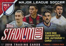 2018 Topps Stadium Club MLS Soccer Trading Cards New 8pk Retail Blaster Box