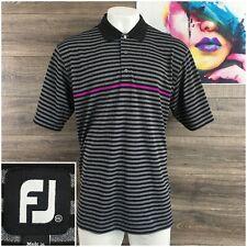 FootJoy FJ Golf Shirt Mens Size 2XL Performance Polo Gray Stretch Short Sleeve