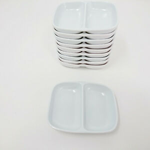 6x White Porcelain Soy Sauce Dipping Dish Plate S-3325x6