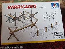 Barricades - Italeri - Réf. 401 - Echelle 1/35