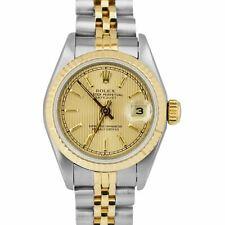 Rolex Datejust 69173 champán Tapiz 26mm De Dos Tonos Oro Reloj De Acero Jubileo