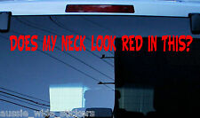BIG 600mm Classic REDNECK Custom BNS Aussie Ute 4x4 Car Funny Stickers