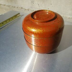 Nice vintage lacquered box / container, chinese
