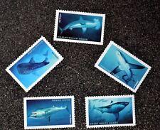 2017USA #5223-5227 Forever - Sharks - Set of 5 Singles  Mint  shark