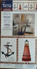 "Plaid Stencil Decor Multi-Layer Borders Nautical Images 26711 15.5"" x 8.5"" - New"