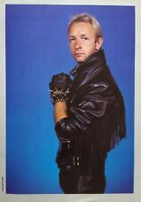 Judas Priest Rob Halford In Leather Magazine Pinup Clipping