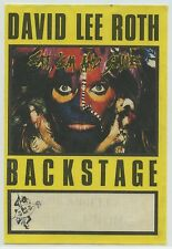 David Lee Roth Eat Em and Smile Tour Backstage Pass (yellow)