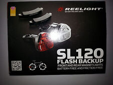 Reelight SL120 LED Bike Bicycle Cycling Front Head Rear Tail Lamp Light Set