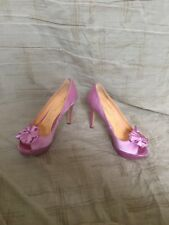 Pour La Victoire Stella Pink Satin, Women's Shoes, Size 8M