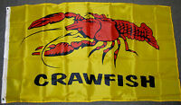 3X5 CRAWFISH FLAG ADVERTISING CRAWDAD CAJUN  NEW F098