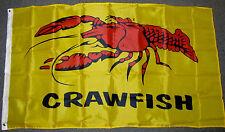 3X5 CRAWFISH FLAG ADVERTISING CRAWDAD CAJUN  NEW F098