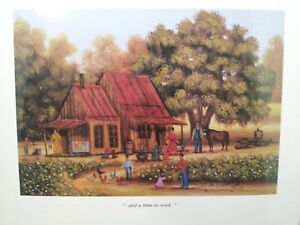 BETH CUMMINGS LITHOGRAPH AND A TIME TO WORK 120 OF 1000 1983  NEW SEALED SIGNED