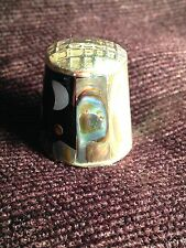 Thimble -  Alpaca Mexico - Mother of pearl effect - Silver colour (840)