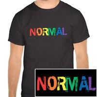 Normal - Black and Rainbow T-Shirt - LGBT Gay Lesbian Pride Clothing & Apparel
