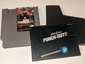 Mike Tyson's Punch-Out!! Nintendo NES Video Game Cartridge w/ Manual & Sleeve