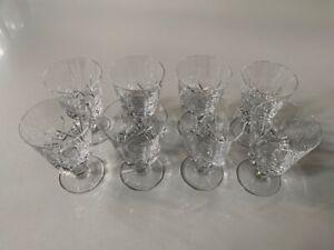 Stuart crystal 8 x vintage wine glasses