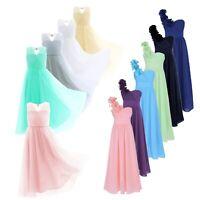 Girls Long Lace Dress Prom Gown Floor Length Dresses Wedding Bridesmaid Flower