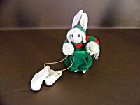 Adorable Cloth Rabbit With Ice Skates Christmas Ornament (Cat.#12T039)