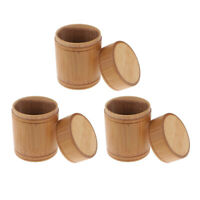 MagiDeal 3pcs Bamboo Tea Container Caddy Canister Tea Jar Storage Bottle S